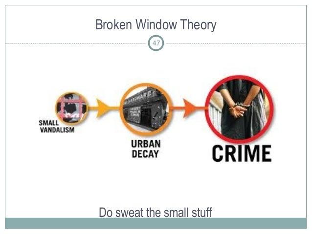 Broken Window Theory Do sweat the small stuff 47