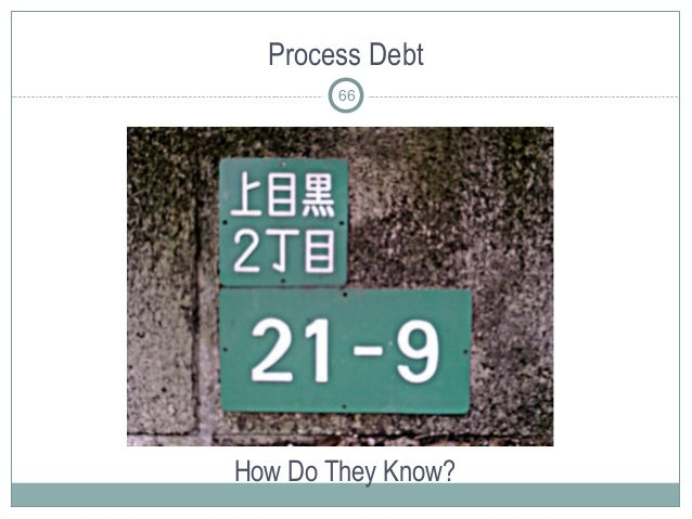 Process Debt How Do They Know? 66
