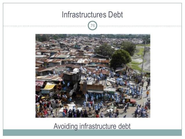 Infrastructures Debt Avoiding infrastructure debt 76
