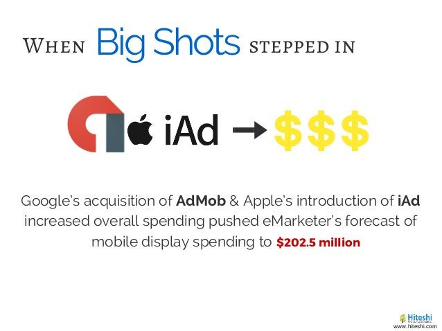 BigShotsWhen Google's acquisition of AdMob & Apple's introduction of iAd increased overall spending pushed eMarketer's for...