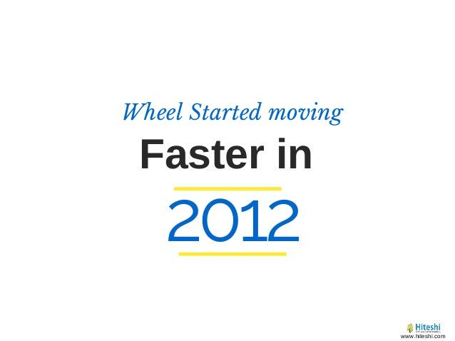Faster in Wheel Started moving 2012 www.hiteshi.com