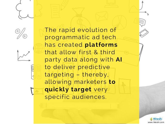 The rapid evolution of programmatic ad tech has created platforms that allow first & third party data along with AI to del...
