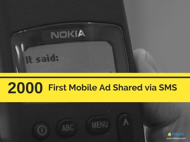 2000 First Mobile Ad Shared via SMS www.hiteshi.com