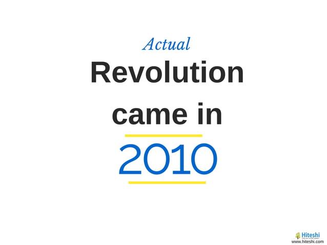 Revolution came in Actual 2010 www.hiteshi.com