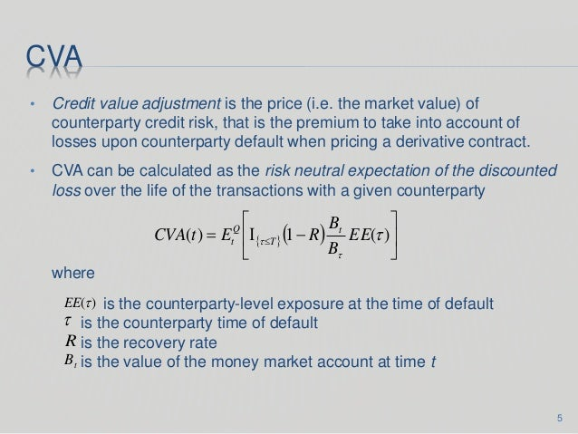 credit value adjustment Given the material impact credit related valuation adjustments can have on your derivative mtm, treasurers will need to plan now before they are forced to act by accounting boards or regulators.