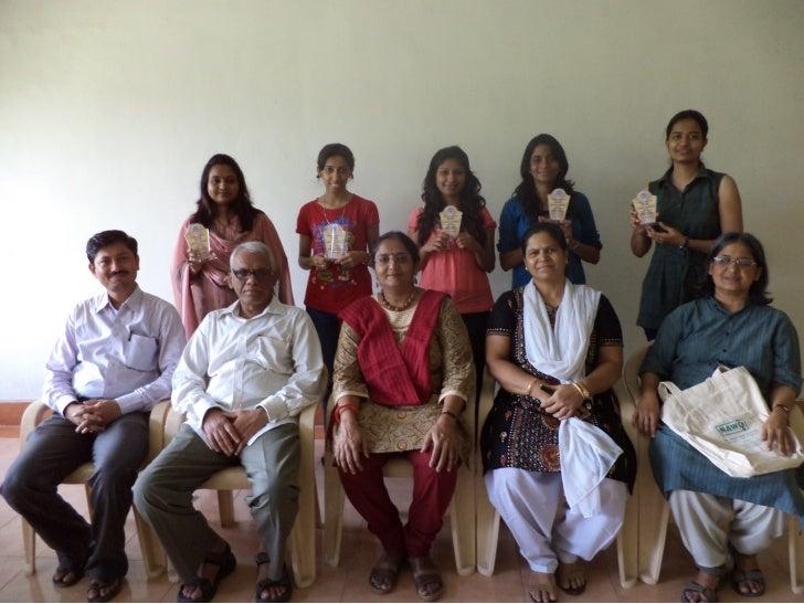From right archana chandrashekharan (2nd prise in poster making), marina mendis and renu sharma (2nd prise in debate), kan...