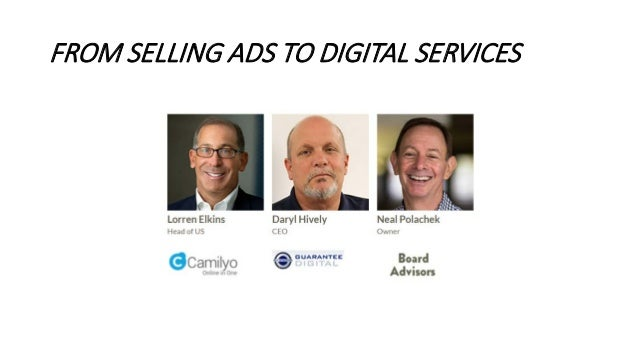 FROM SELLING ADS TO DIGITAL SERVICES