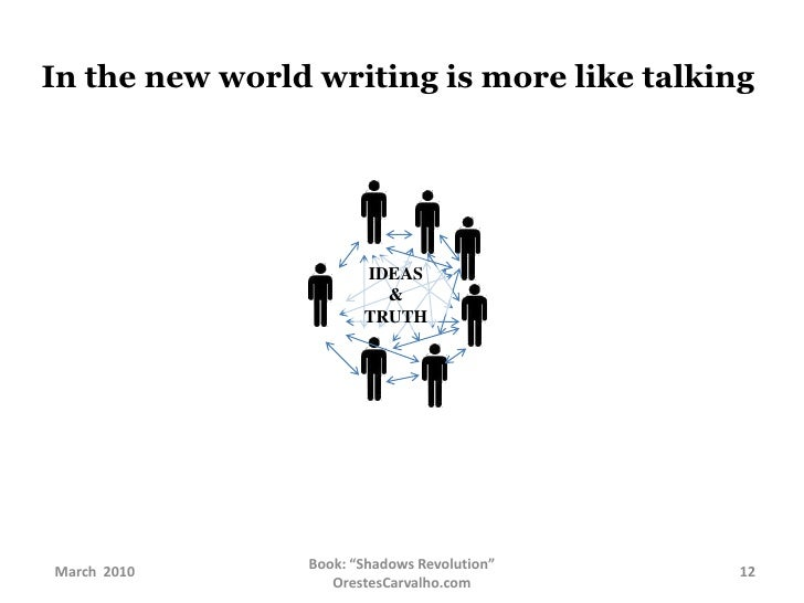 In the new world writing is more like talking<br />IDEAS &<br />TRUTH<br />
