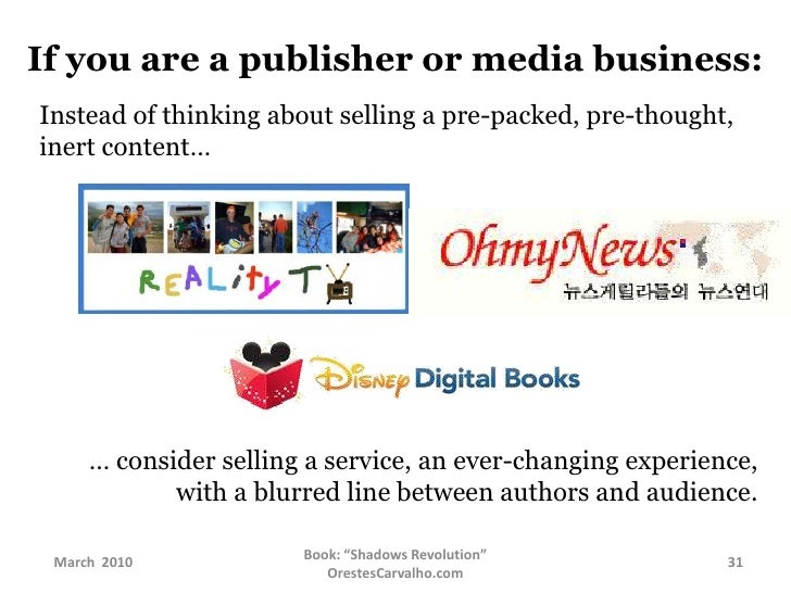 If you are a publisher or media business:<br />Content won't die; but it will lose relevance.<br />Consider how you can im...
