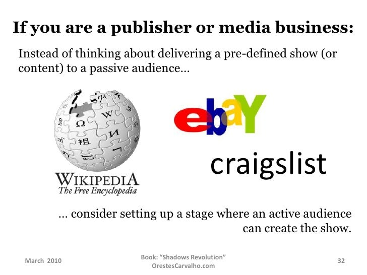 If you are a publisher or media business:<br />Instead of thinking about selling a pre-packed, pre-thought, inert content…...