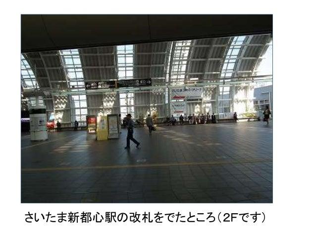 さいたま新都心駅の改札をでたところ(2Fです)