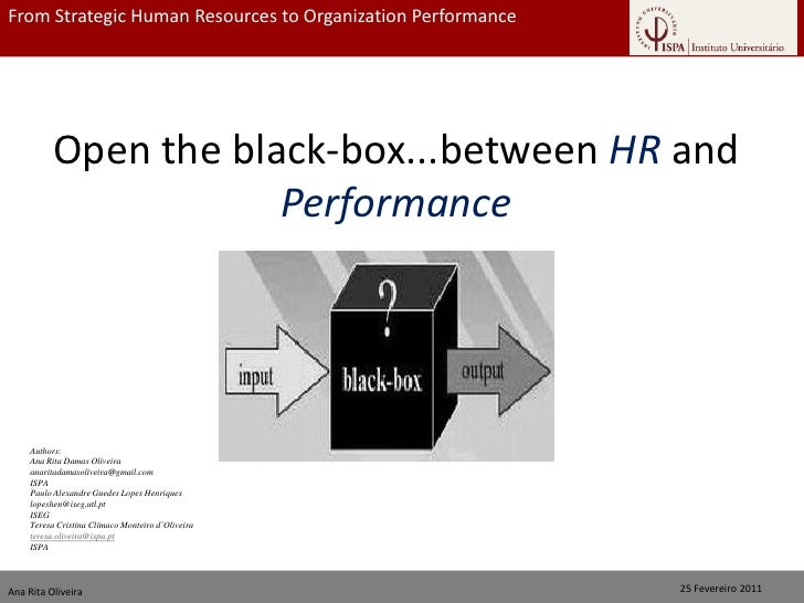 From Strategic Human Resources to Organization Performance                                  From Strategic HR to Organizat...