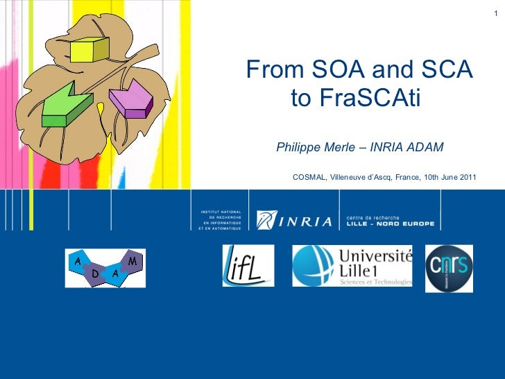 From SOA and SCA to FraSCAti  Philippe Merle – INRIA ADAM COSMAL, Villeneuve d'Ascq, France, 10th June 2011