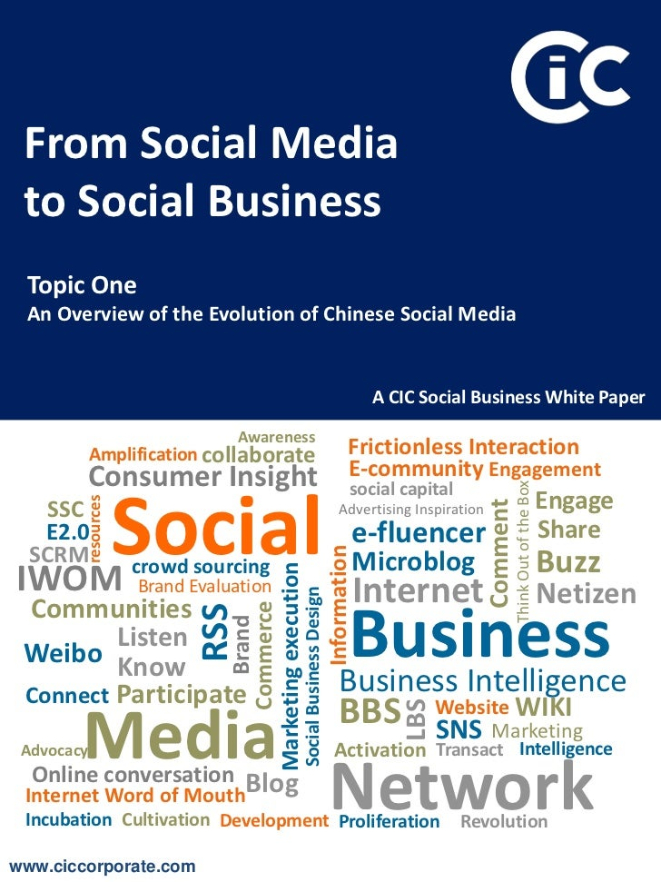 From Social Media to Social Business Topic One An Overview of the Evolution of Chinese Social Media                       ...