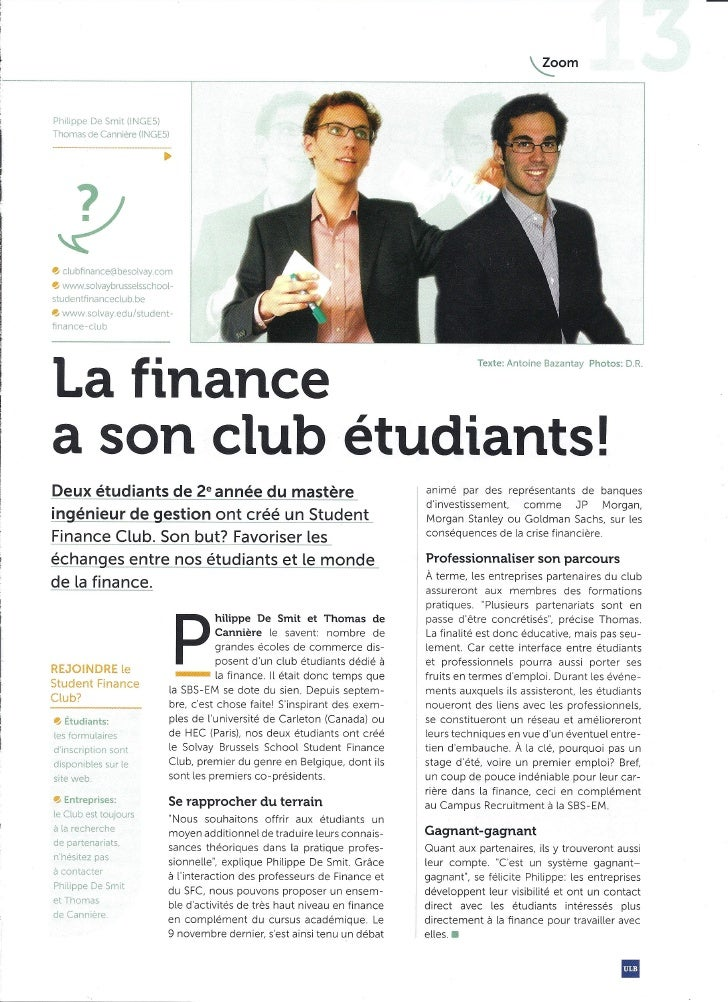 Solvay Brussels School Student Finance Club