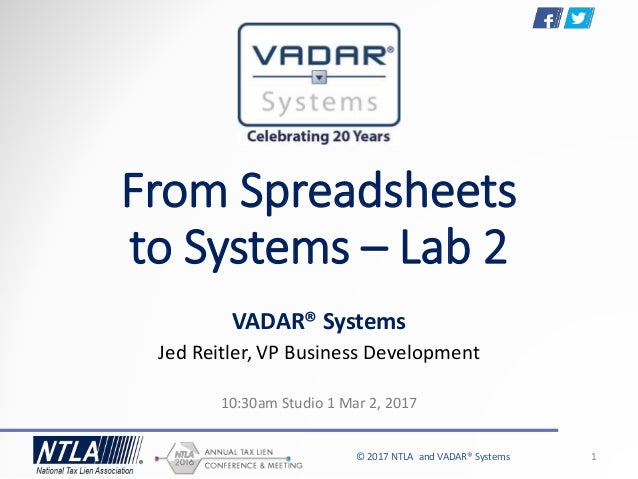 from spreadsheets to systems for tax liens