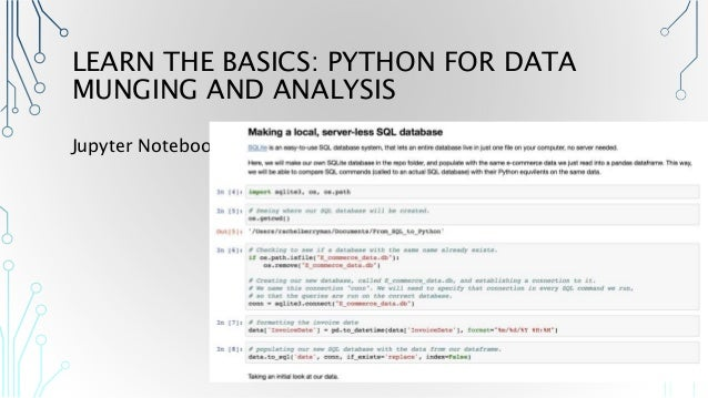 From SQL to Python - A Beginner's Guide to Making the Switch