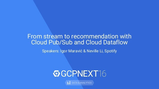 From stream to recommendation using apache beam with cloud pubsub and…