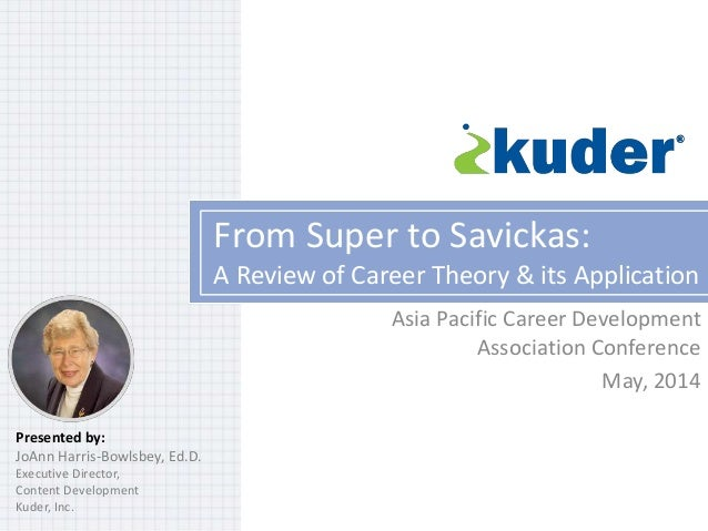 From Super to Savickas: A Review of Career Theory & its Application Asia Pacific Career Development Association Conference...