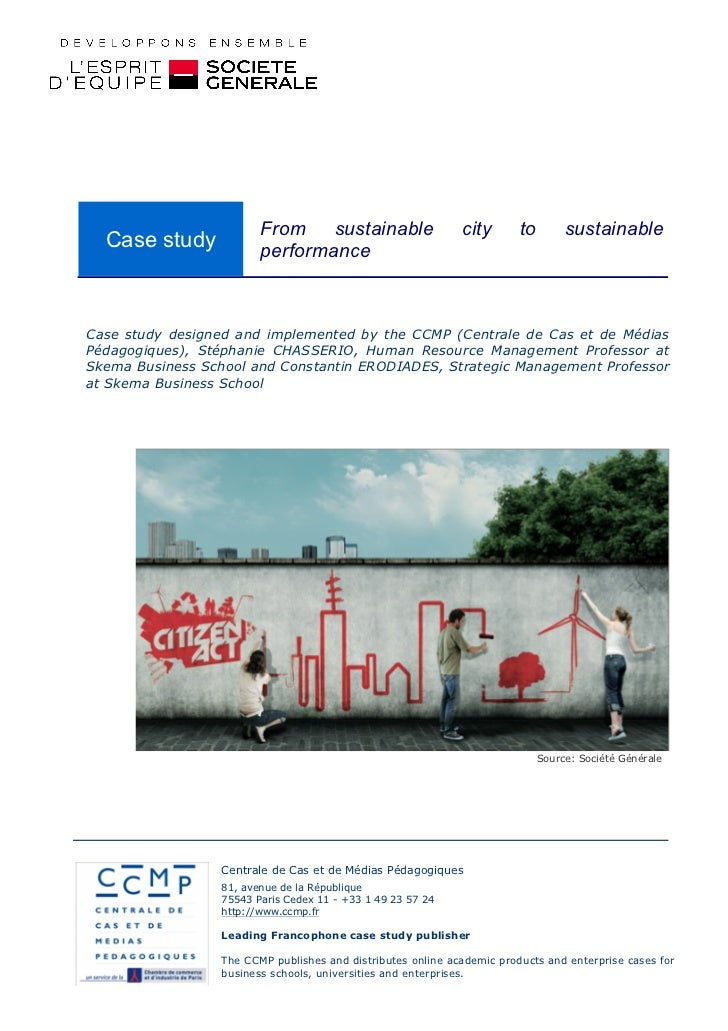 From sustainable                     city       to        sustainable  Case study             performanceCase study design...