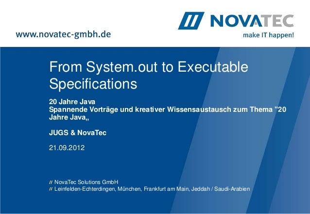 """From System.out to ExecutableSpecifications20 Jahre JavaSpannende Vorträge und kreativer Wissensaustausch zum Thema """"20Jah..."""