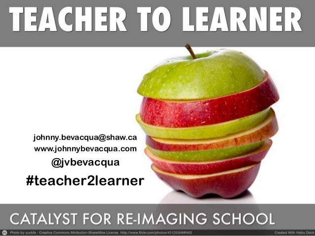 johnny.bevacqua@shaw.ca www.johnnybevacqua.com @jvbevacqua #teacher2learner