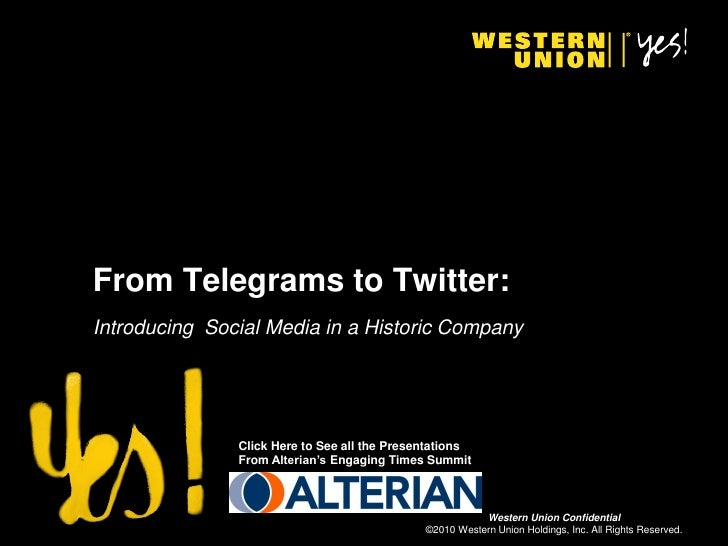 From Telegrams to Twitter: Introducing Social Media in a Historic Company                    Click Here to See all the Pre...