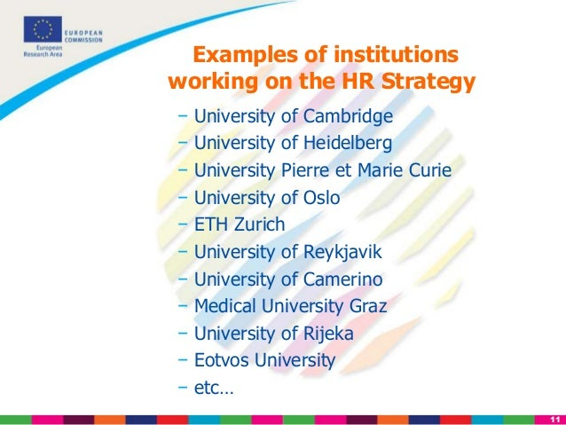 From the Charter & Code to the Human Resources Strategy - Euraxess Ri…