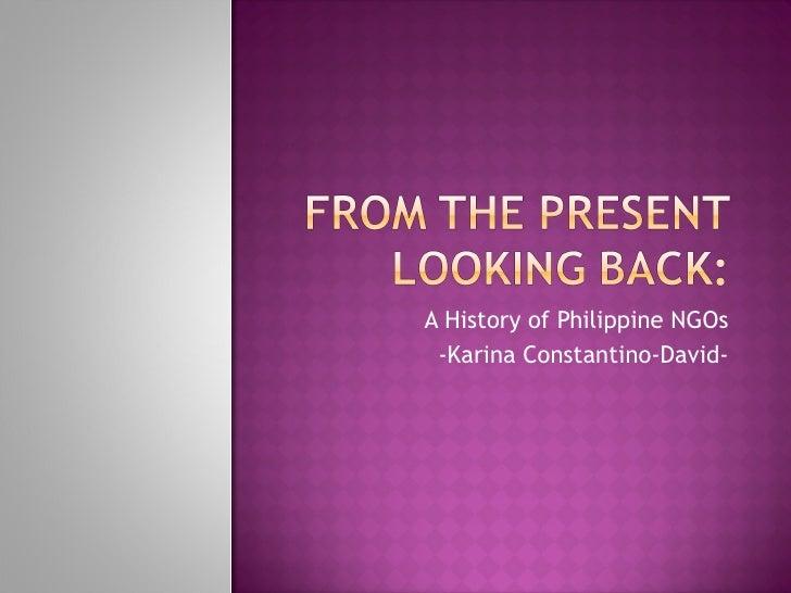 A History of Philippine NGOs -Karina Constantino-David-