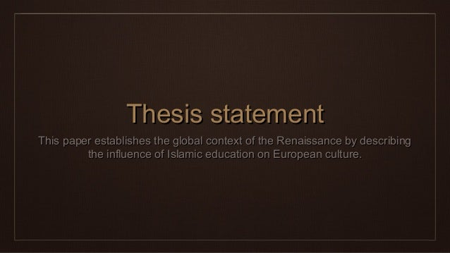 renaissance research topics