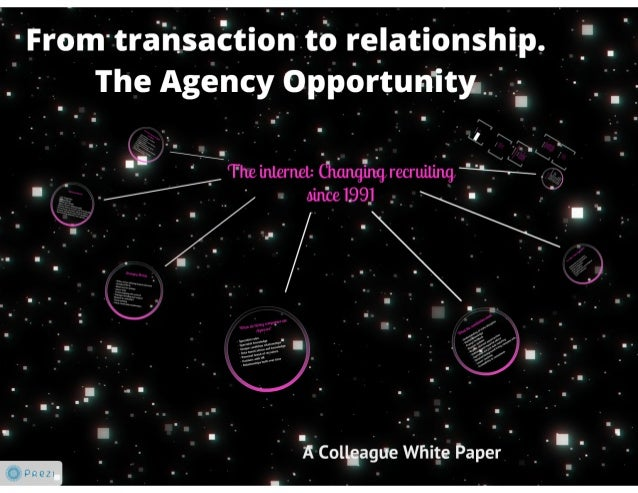 From transaction to relationship the agency opportunity @billBoorman