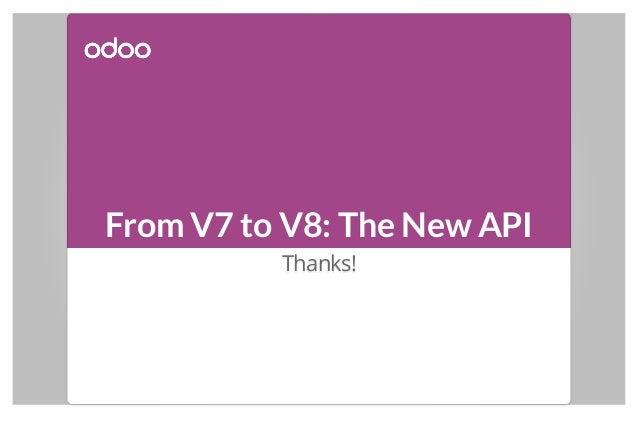 From V7 to V8: The New API Thanks!