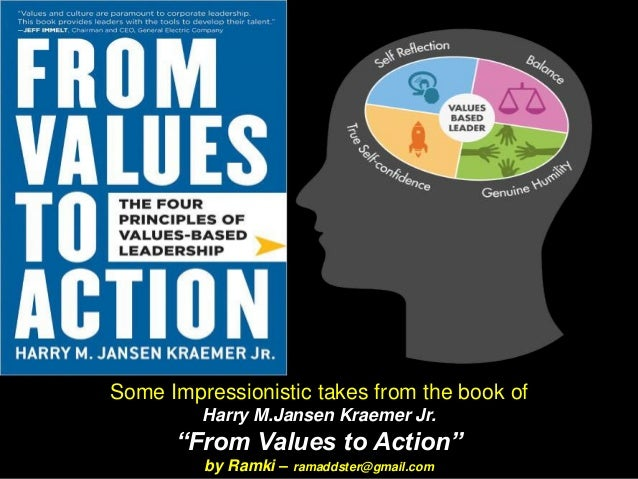 """Some Impressionistic takes from the book of Harry M.Jansen Kraemer Jr. """"From Values to Action"""" by Ramki – ramaddster@gmail..."""
