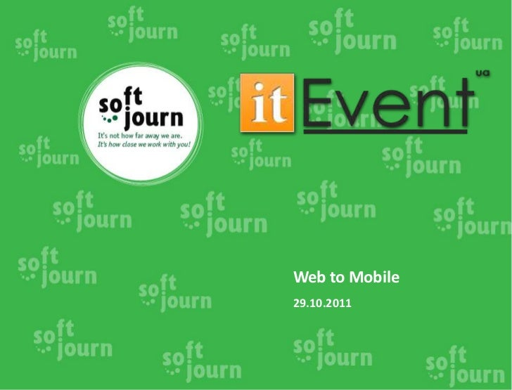 Web to Mobile29.10.2011