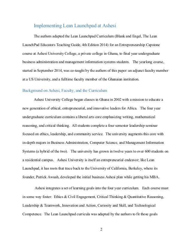 VentureWell Paper: From West Coast to Gold Coast Slide 2