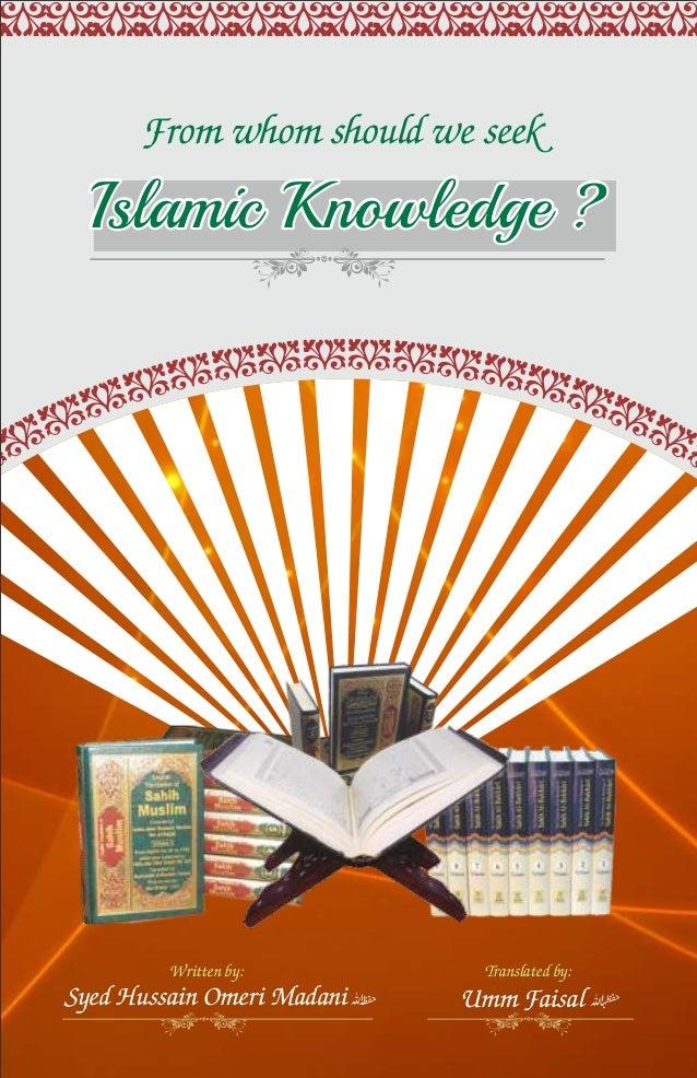 From whom should we seek islamic knowledge