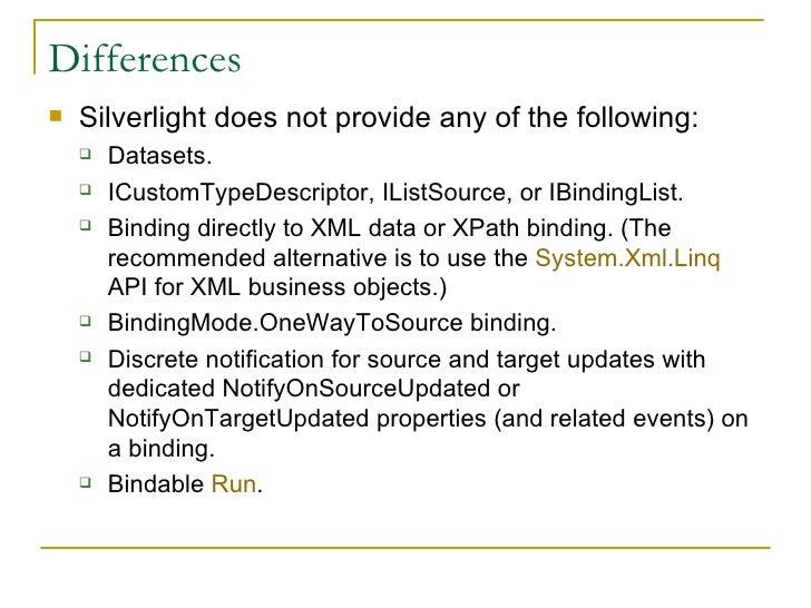 From Windows Presentation Foundation To Silverlight