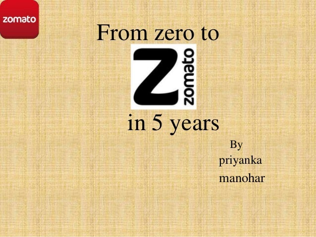From zero to  in 5 years By  priyanka  manohar
