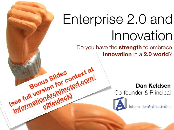 Enterprise 2.0 and                               Innovation                            Do you have the strength to embrace...
