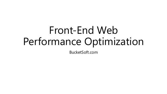 Front-End Web Performance Optimization BucketSoft.com