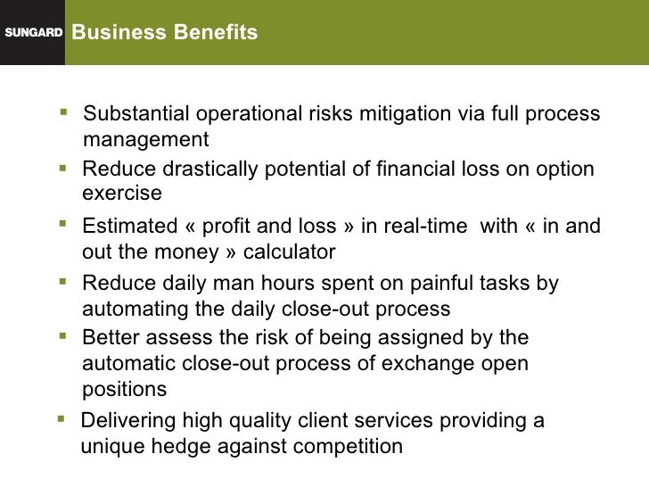 Sungard trading & risk systems