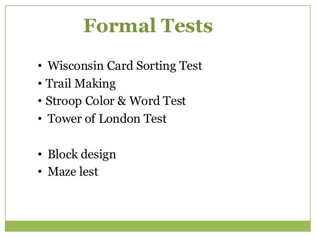 """Wisconsin Card Sorting Test """"Please sort the 60 cards under the 4 samples. I won't tell you the rule, but I will announce ..."""