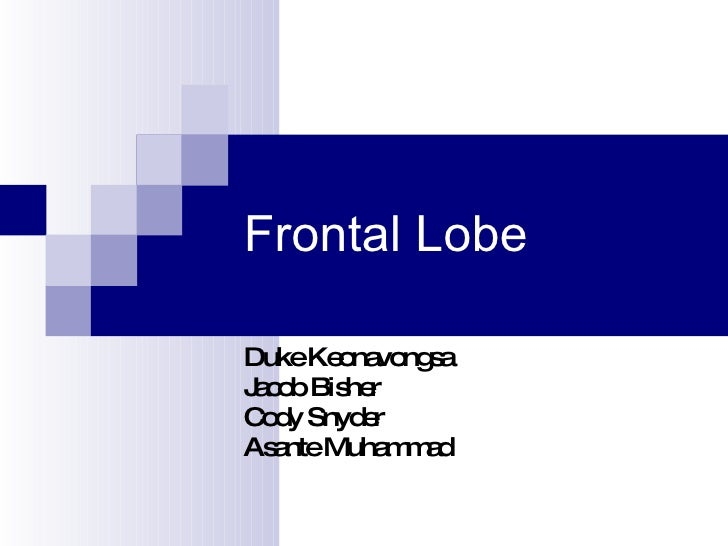 Frontal Lobe Duke Keonavongsa Jacob Bisher Cody Snyder Asante Muhammad