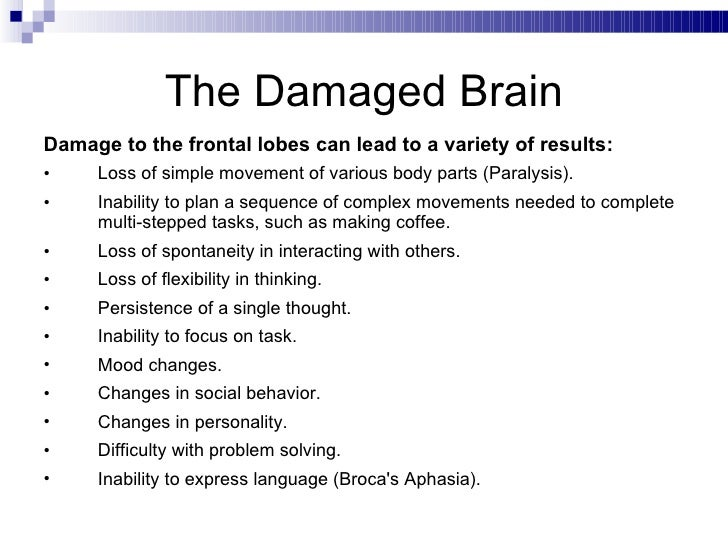 What Are the Effects of Right Frontal Lobe Damage?
