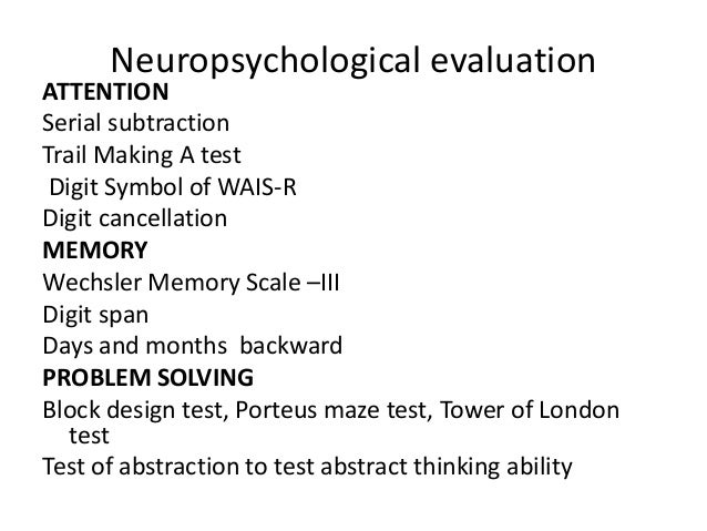 Frontal Lobe Functions And Assessmeny 20th July 2013