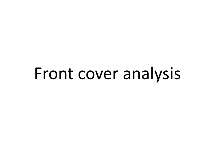 Front cover analysis