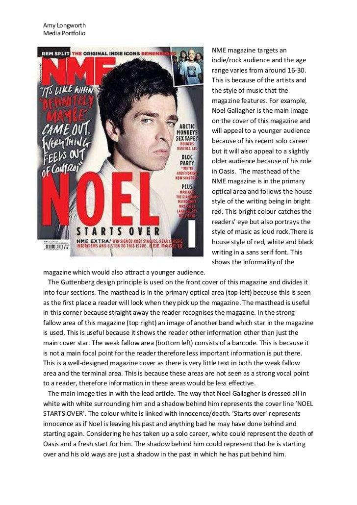 Amy LongworthMedia Portfolio                                                           NME magazine targets an            ...