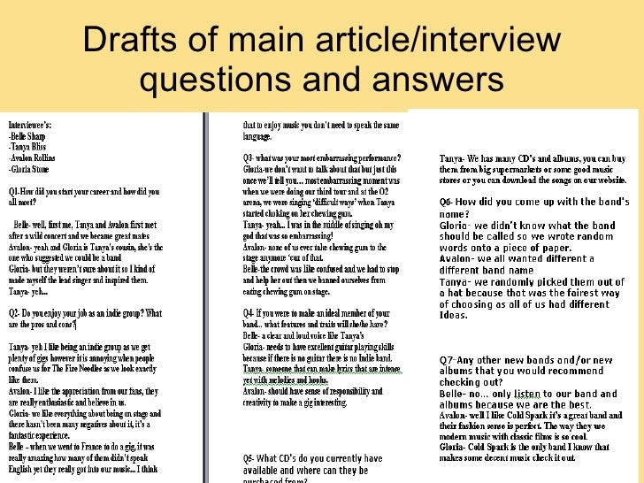 interview queries for ca articles