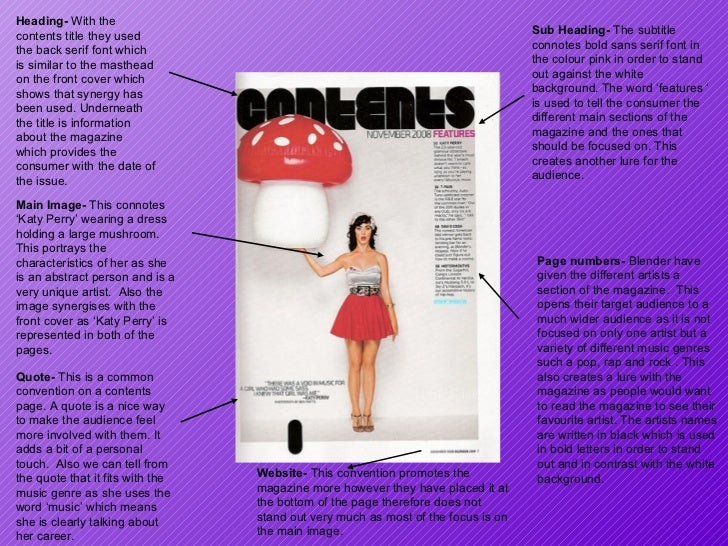 Main Image-  This connotes 'Katy Perry' wearing a dress holding a large mushroom.  This portrays the characteristics of he...