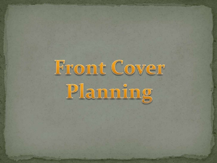 Front Cover Planning<br />